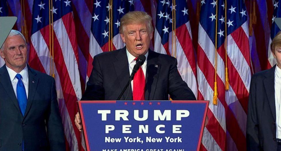 Donal Trump eletto presidente USA 8 novembre 2016