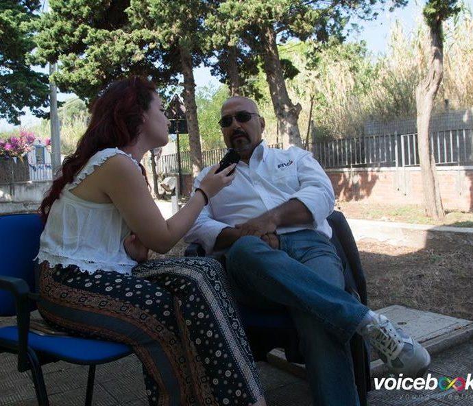 Giueppe D'amico ai microfoni di voicebookradio.com - evento di Ventotene