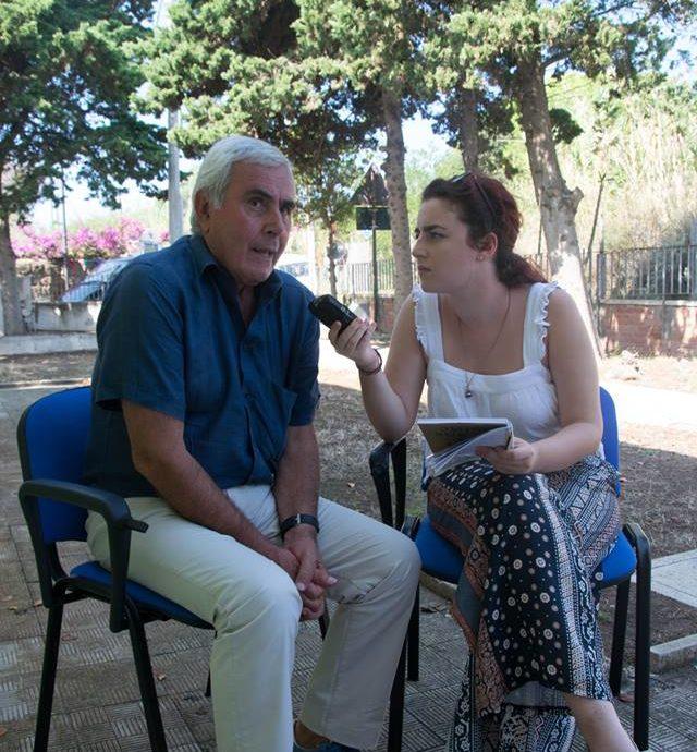 Riccardo Viola ai microfoni di voicebookradio.com - evento di Ventotene