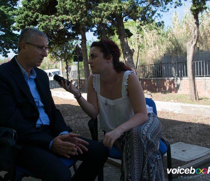 Preside Liceo Marconi di Civitavecchia ai microfoni di voicebookradio.com - evento di Ventotene