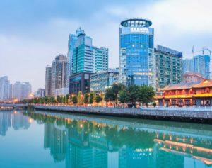 Foto della città di Chengdu usata per l'articolo sulla luna artificiale