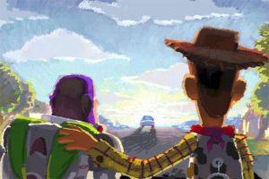 Un bozzetto della Mostra Pixar di Roma
