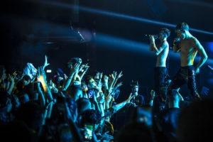 lato e Boss dome durante il concerto