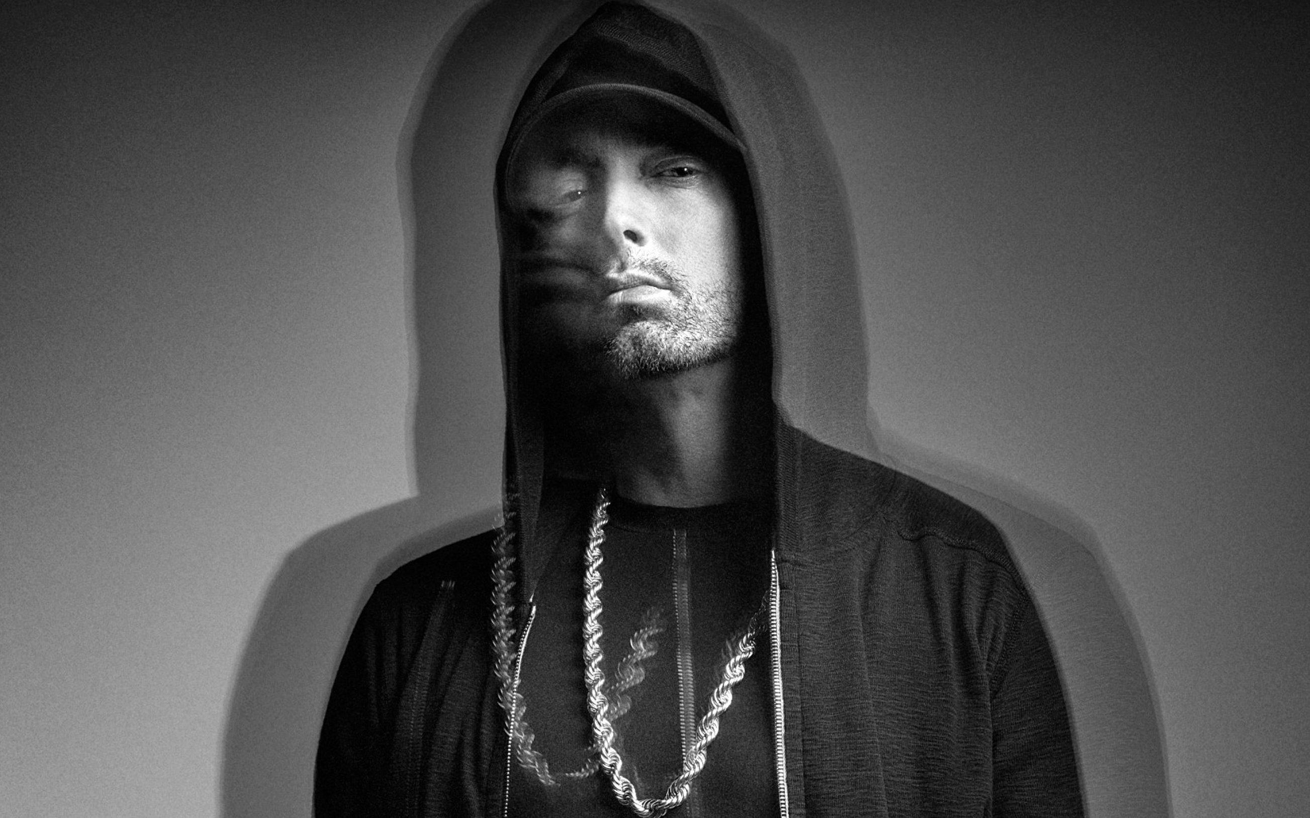 Eminem durante un book fotografico