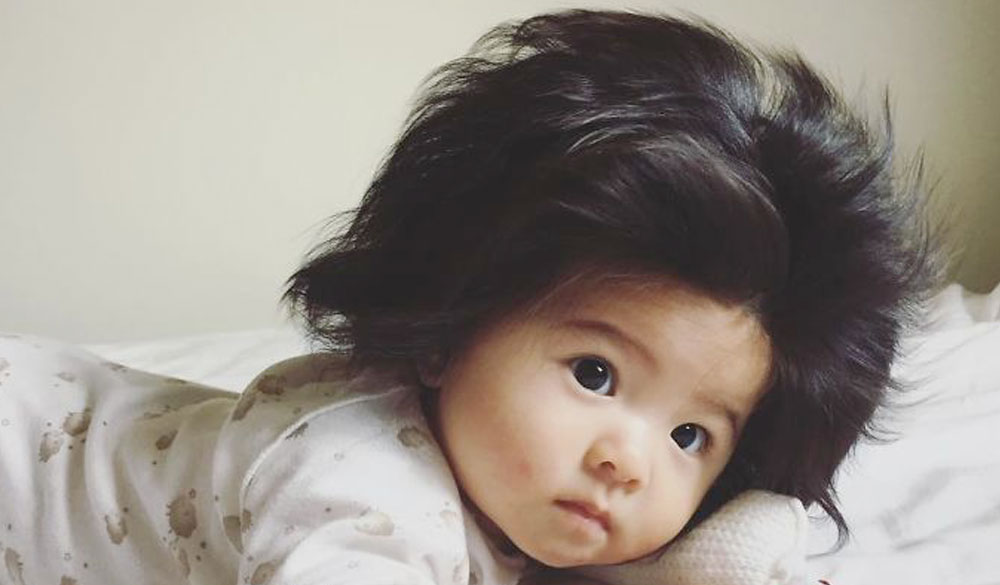 Baby Chanco conquista il web e Pantene con i suoi folti capelli!