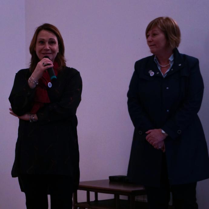 Cecilia Caroni e Anna MAria Salierno convegno DADA Iacta Est
