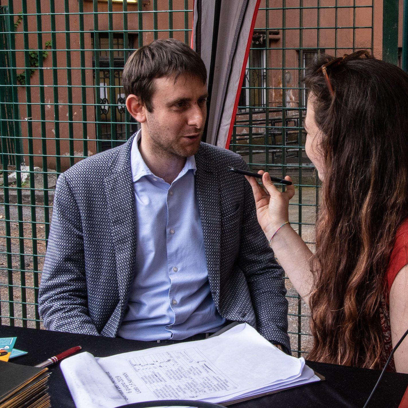 Intervista a Daniele Diaco, presidente della commissione ambiente del comune di Roma, al liceo J.F. Kennedy