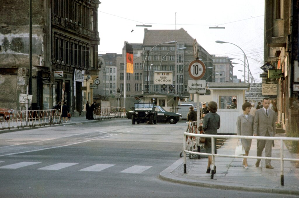 Checkpoint Charlie in 1965