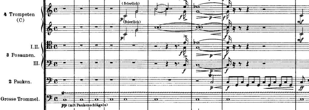 """Le prime battute di """"Così parlò Zarathustra"""" di Strauss"""
